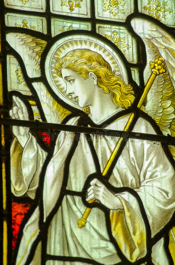 Download Angel Gabriel Stained Glass Window Stock Image - Image of vertical, halo: 34366151