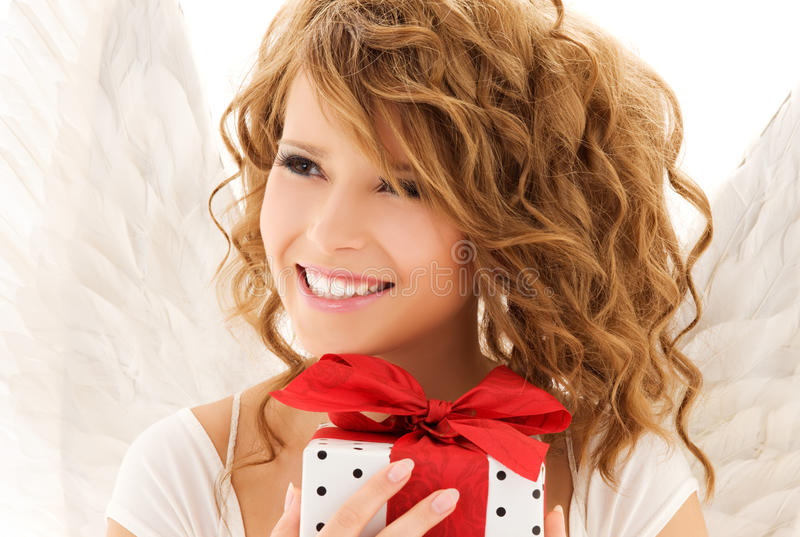 Download Angel with gift stock photo. Image of cute, caucasian - 10651638
