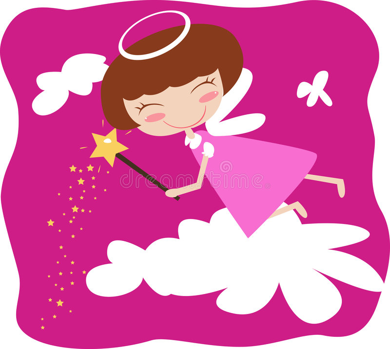 Download Angel girl stock vector. Illustration of happy, lady, pretty - 5680903