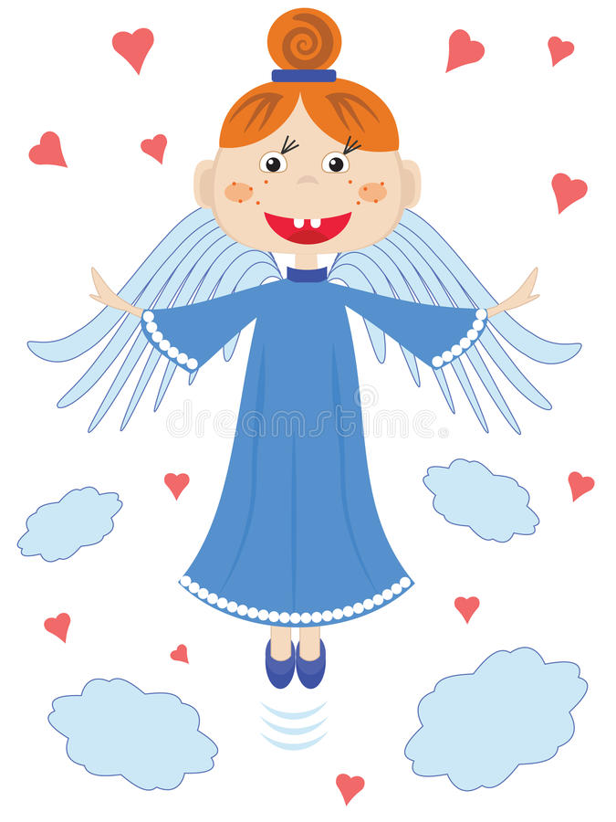 Download Angel. stock illustration. Image of baby, christmas, heart - 33427460