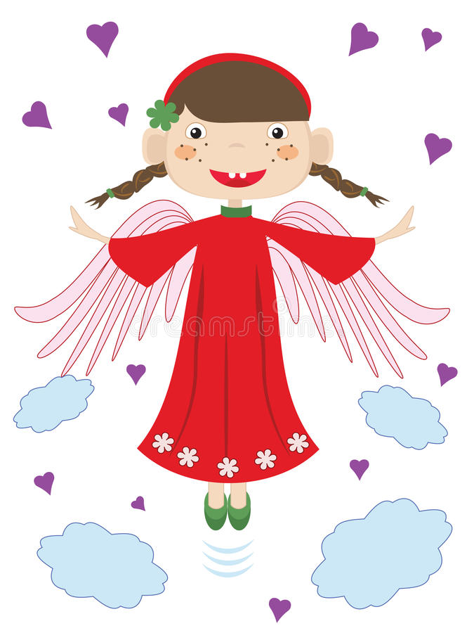 Download Angel. stock illustration. Image of happy, love, baby - 33427537