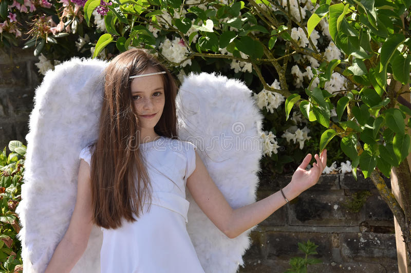 Angel girl stock photography