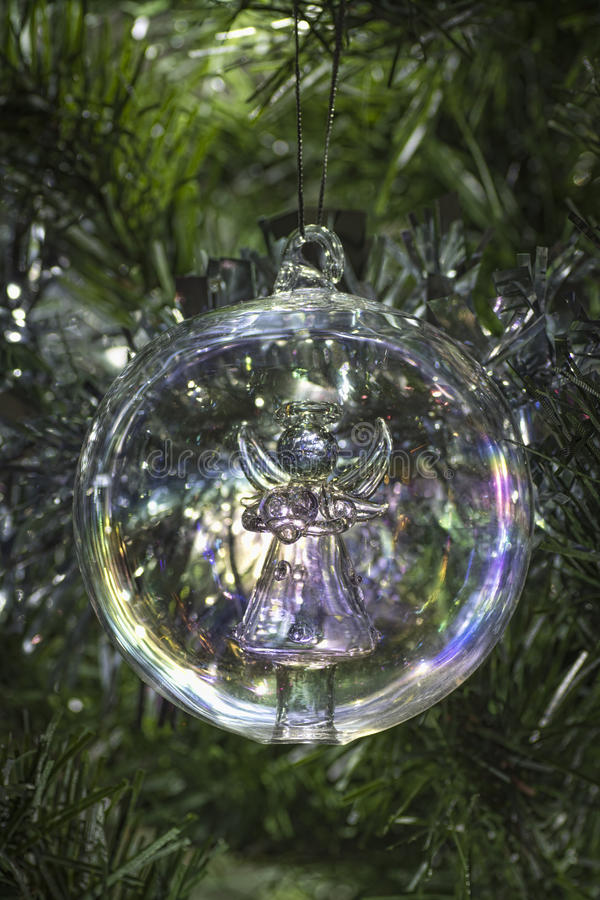 Free Angel Glass Christmas Tree Bauble Decoration Stock Images - 47176494