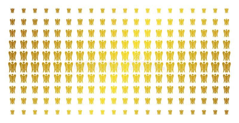 Angel Gold Halftone Matrix ilustração royalty free