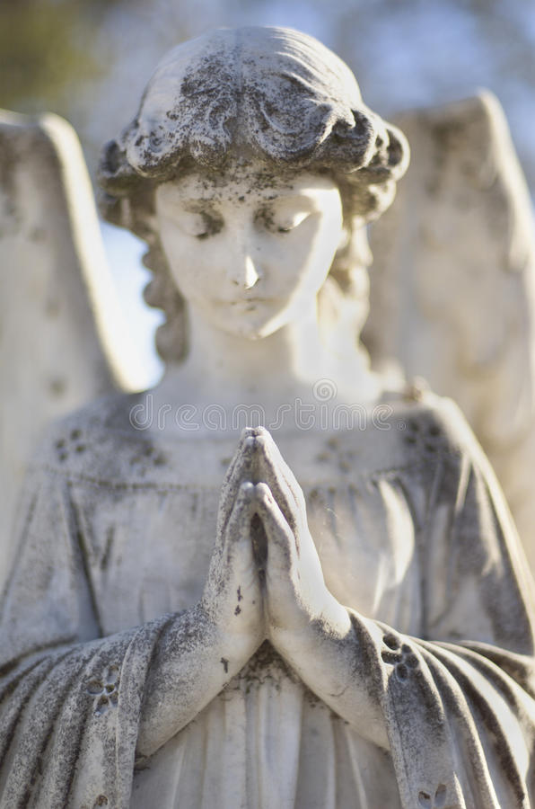 Angel Gravestone stock images