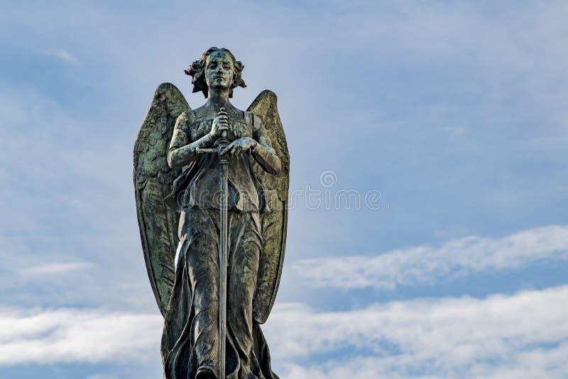 Angel on Cemetery, Cementero Cristobal Colon, Havana, Cuba royalty free stock photos
