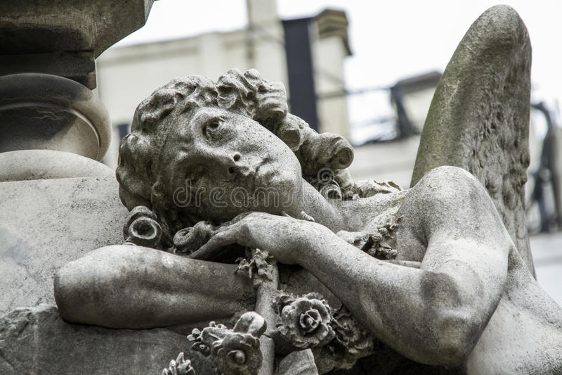 Angel guarding the graves of the dead. royalty free stock photos