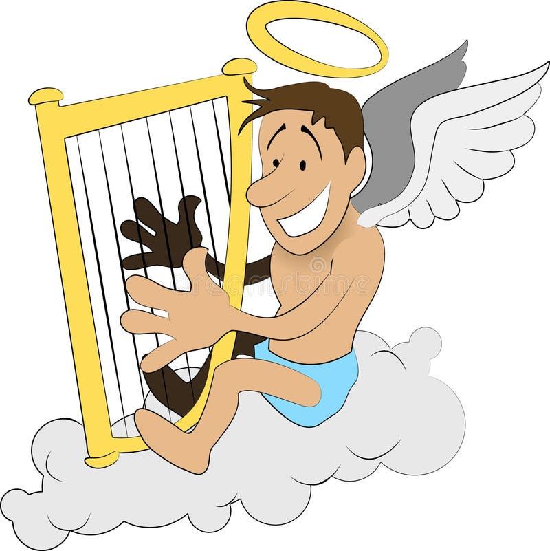 Download Angel harp stock vector. Image of illustration, caricature - 3162350