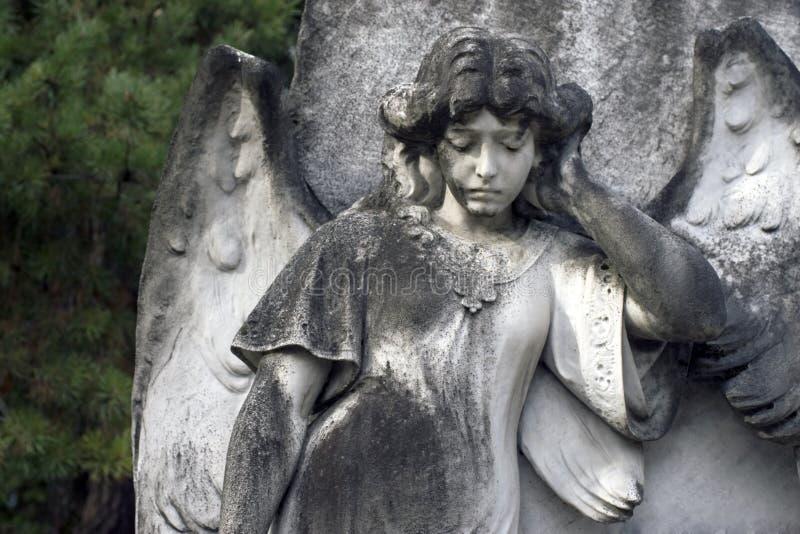 Angel Headstone - Closeup stock photos