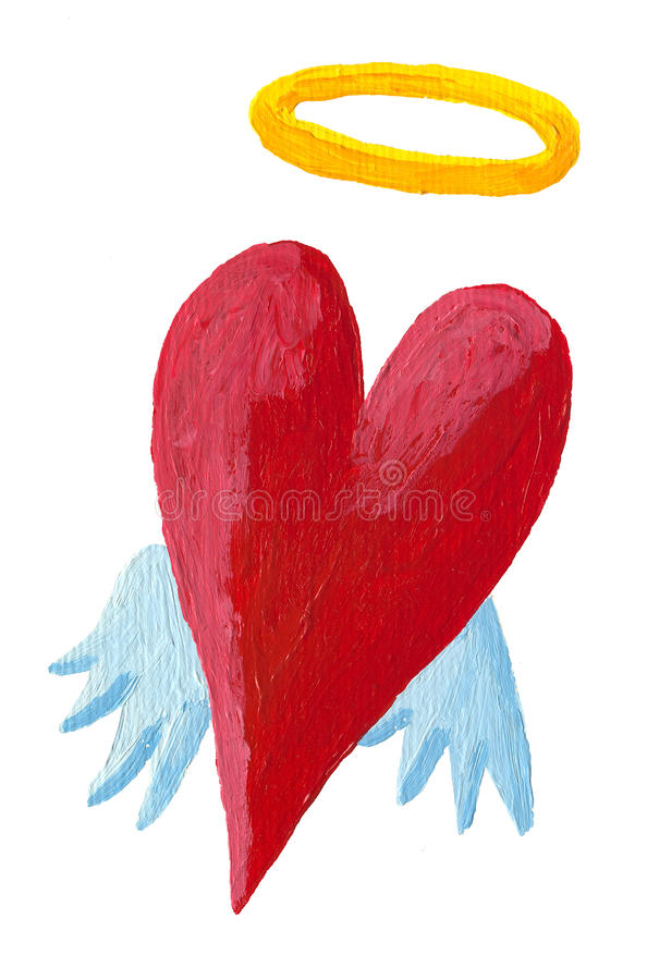 Download Angel heart stock illustration. Image of affection, design - 28895016