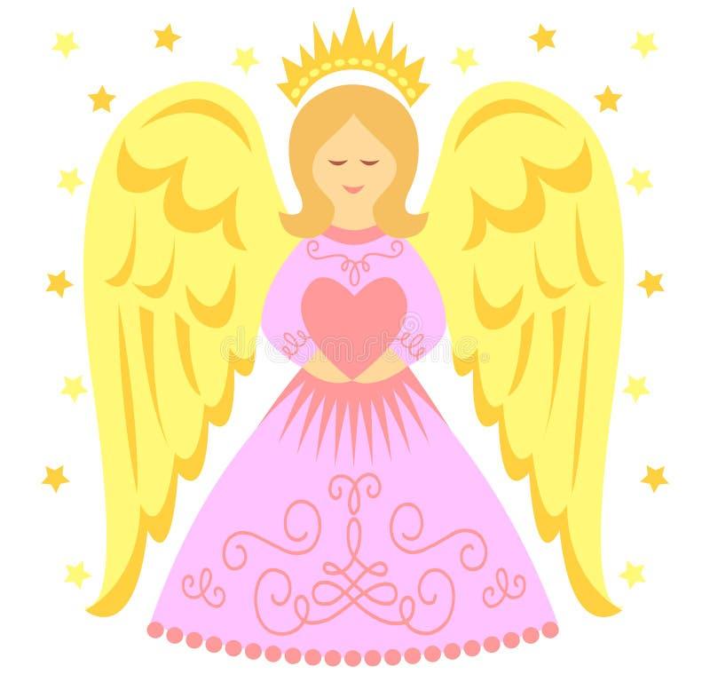 Pink Angel Heart/eps stock image