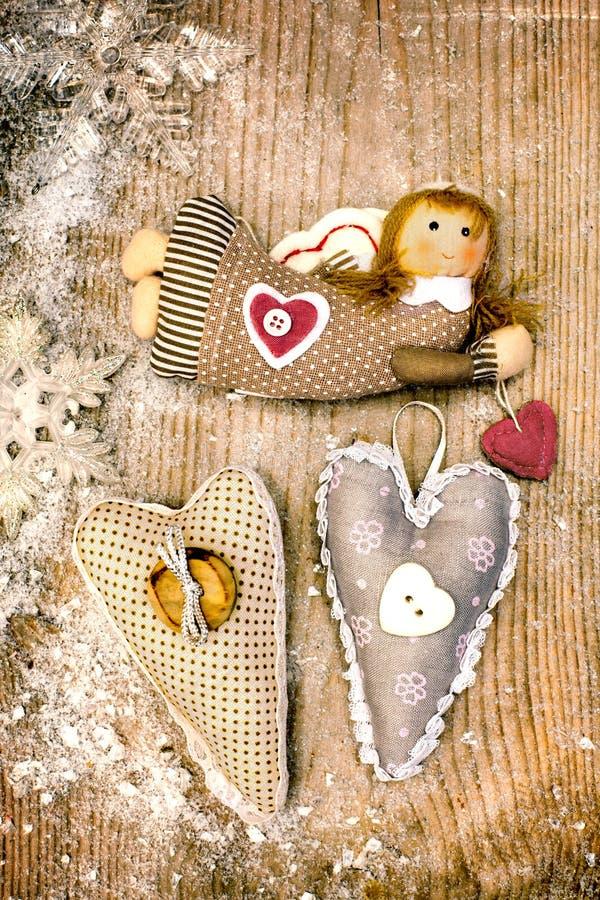 Angel and hearts stock photo