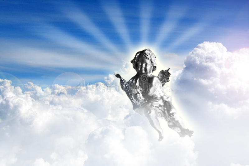 Angel in heaven stock photos