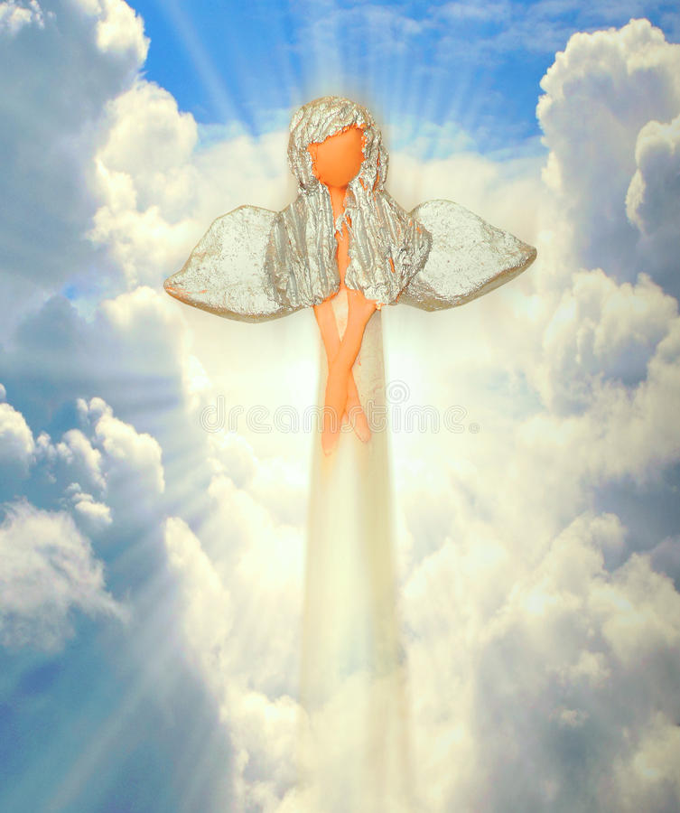 Angel on the heaven stock photo