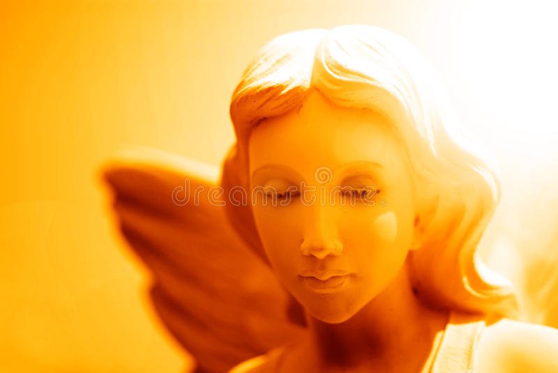 Angel and Heavenly Light royalty free stock photos