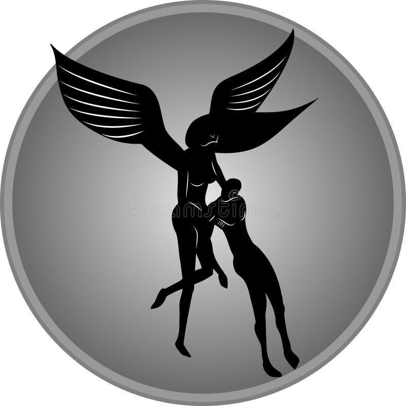 Angel Helping Man ilustração royalty free