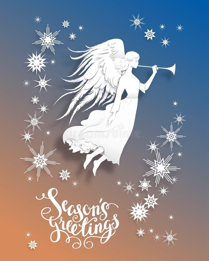 Angel Holiday Card ilustração stock