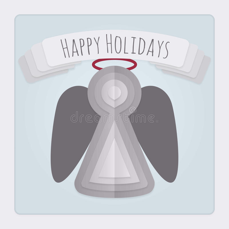 Angel Holiday Card vector illustration