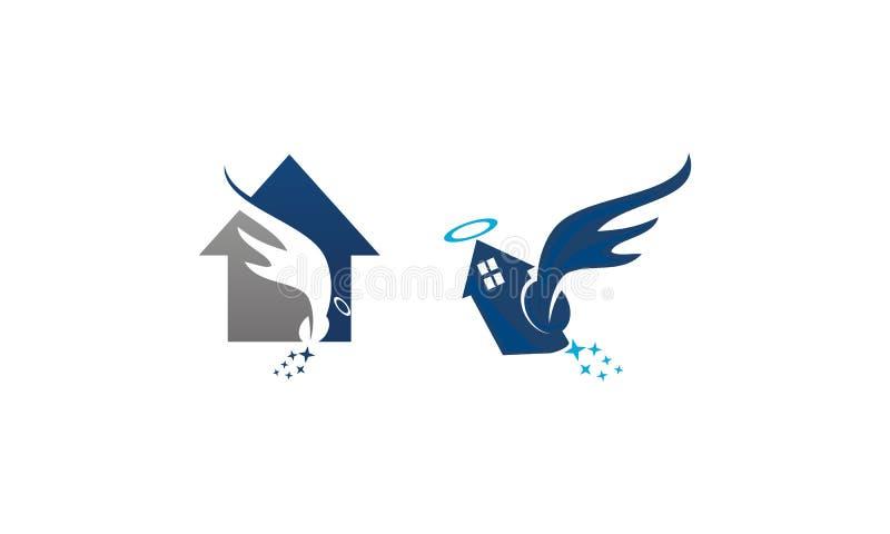 Angel Home Wings Set ilustração do vetor