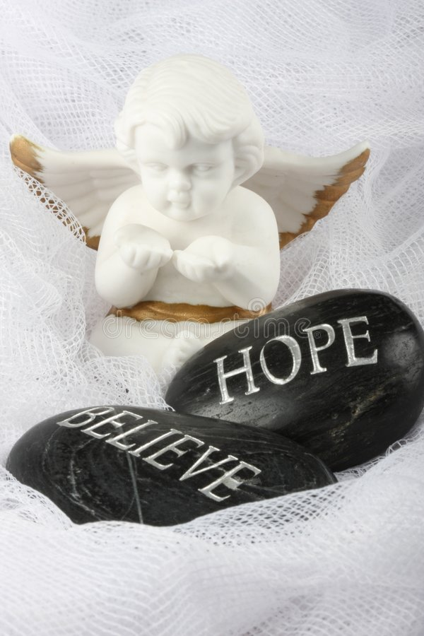 Angel - Hope And Believe royalty free stock images