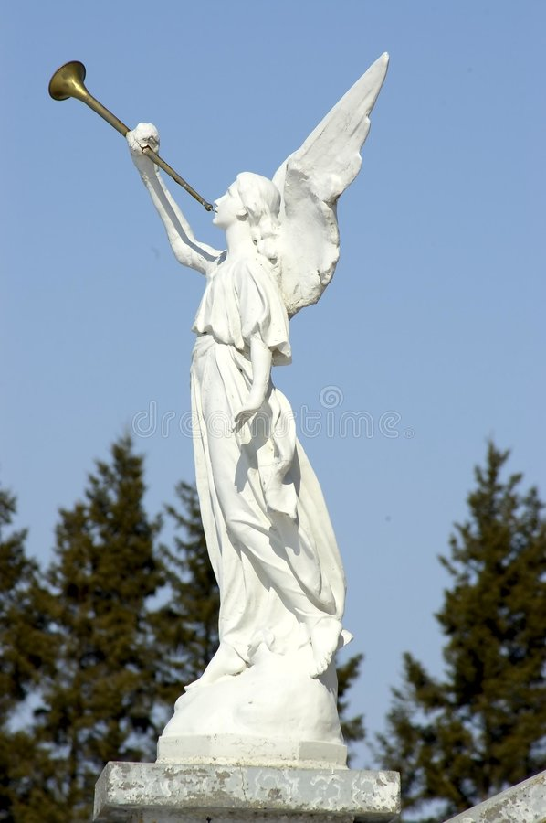 Angel and Horn royalty free stock photography
