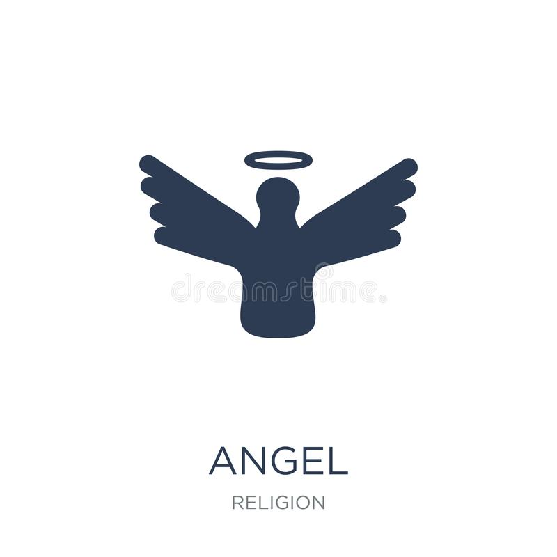Angel icon. Trendy flat vector Angel icon on white background fr stock illustration