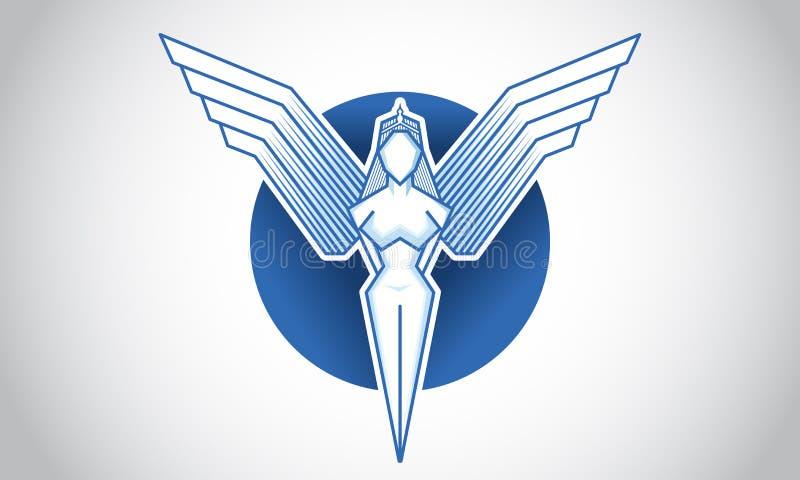 Angel Icon y logotipo fotos de archivo libres de regalías