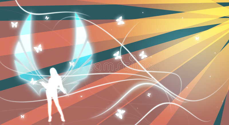 Download Angel illustration 2 stock illustration. Illustration of fashion - 7495081