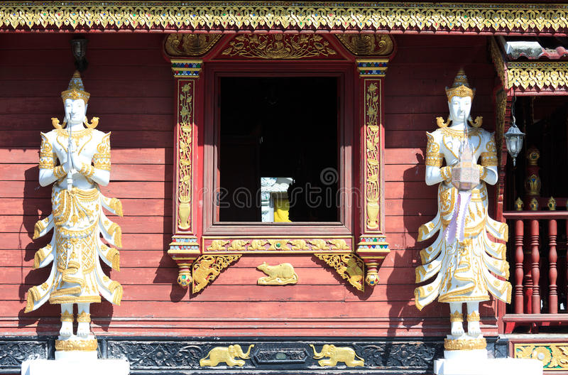 Angel images in Thai temple stock image