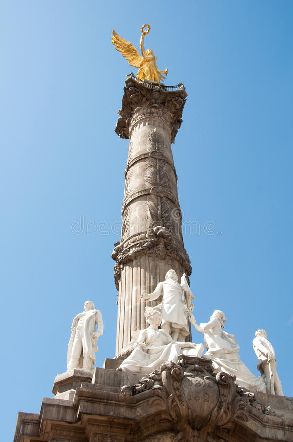 The Angel of Independence, Mexico City stock photo