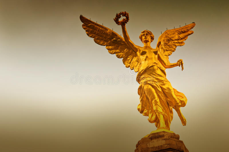 The Angel of Independence in Mexico City, Mexico. stock photos