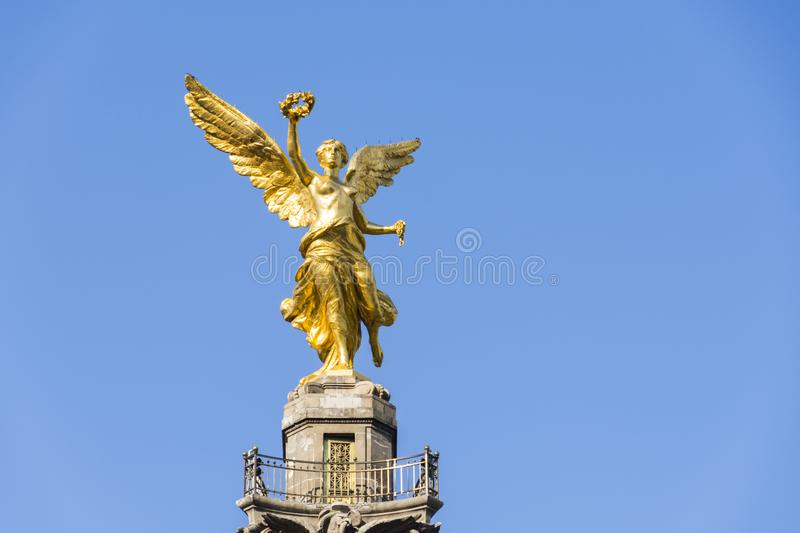 Angel Of The Independence in Mexico City stock photo