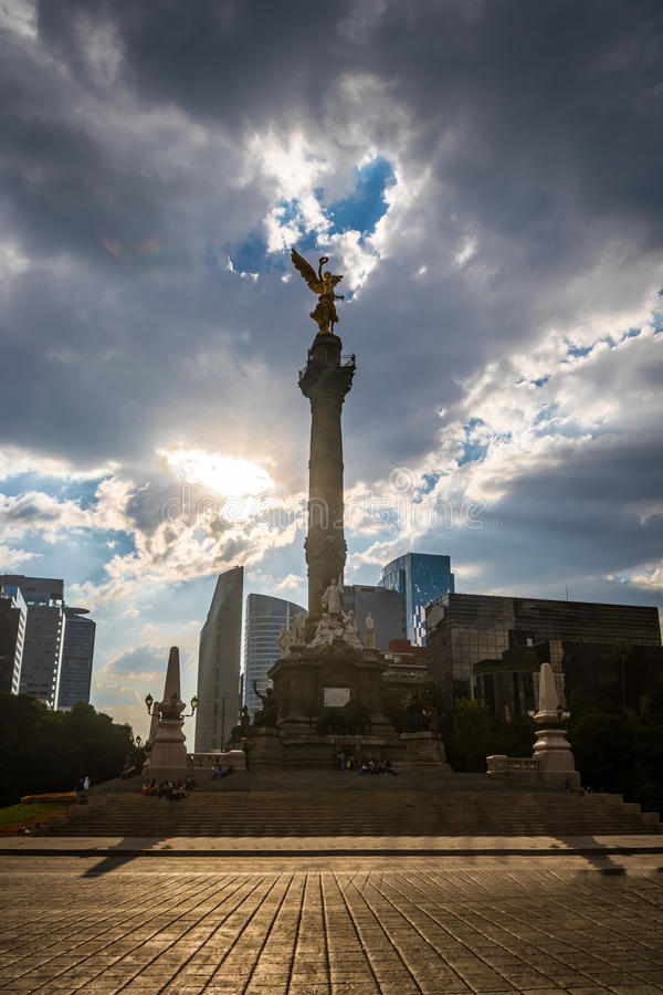 Angel of Independence Monument - Mexico City, Mexico stock photo