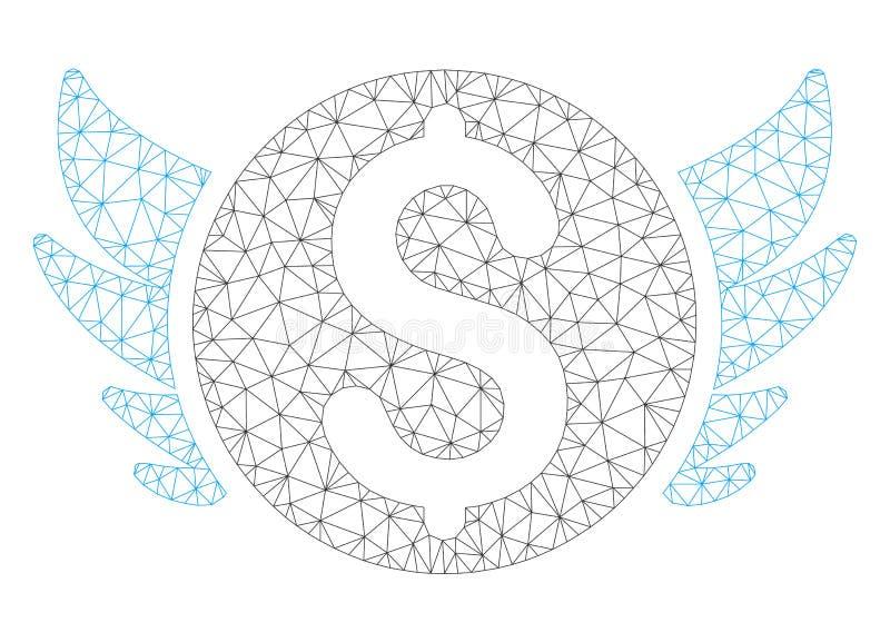 Angel Investment Polygonal Frame Vetora Mesh Illustration ilustração stock