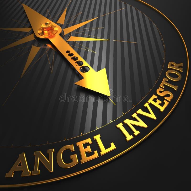 Angel Investor - aguja de oro del compás ilustración del vector