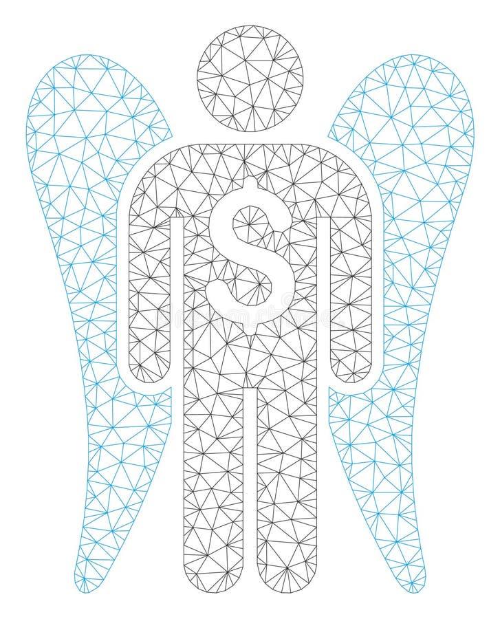 Angel Investor Polygonal Frame Vector Mesh Illustration stock illustration