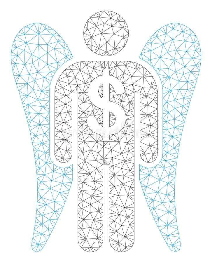 Angel Investor Polygonal Frame Vector Mesh Illustration royaltyfri illustrationer