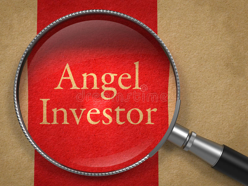 Angel Investor Through une loupe photo stock
