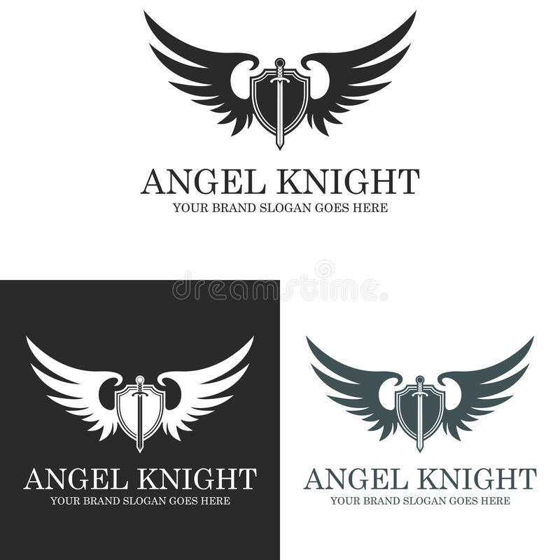 Angel Knight ilustração royalty free