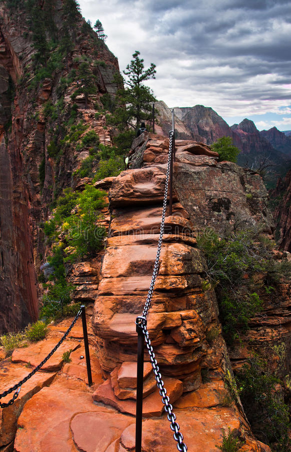 Angel Landing Trail in Zion National Park, Utah fotografia stock