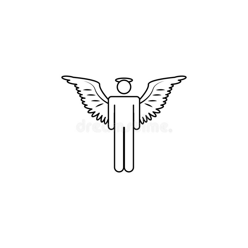 Angel man icon. Element of angel and demon icon for mobile concept and web apps. Thin line icon for website design and developmen. T, app development. Premium stock illustration