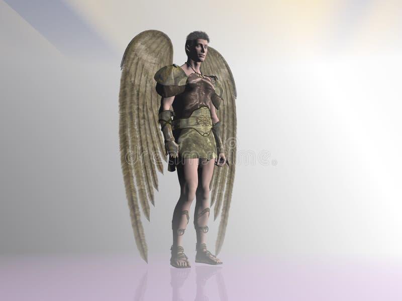 Angel in the mist. vector illustration