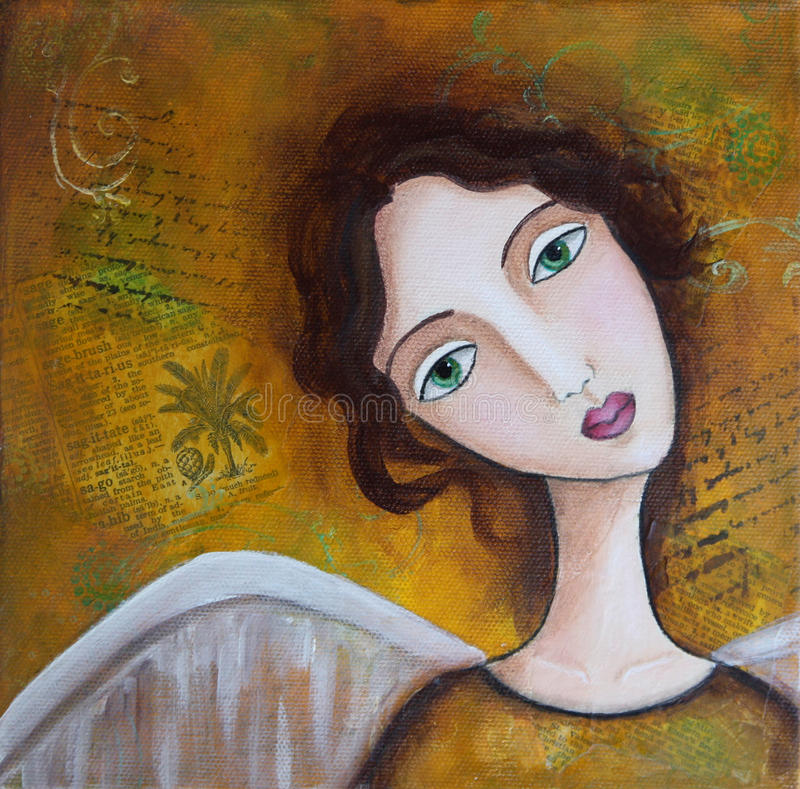 Angel Mixed Media royalty free illustration