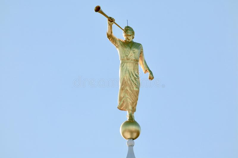 Angel Moroni Blowing His Trumpet lizenzfreies stockfoto