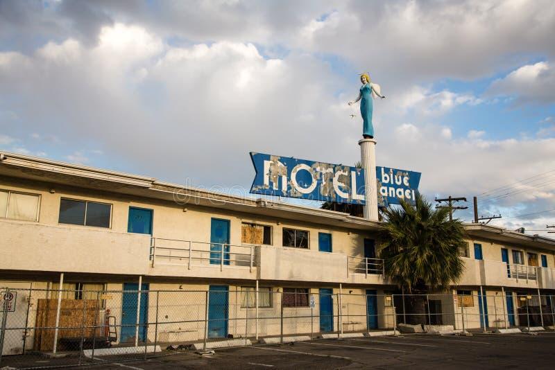 Angel Motel azul fotografía de archivo libre de regalías