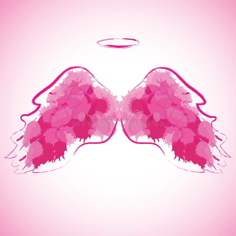 Free Angel Nimbus And Wings. Stock Images - 59211274