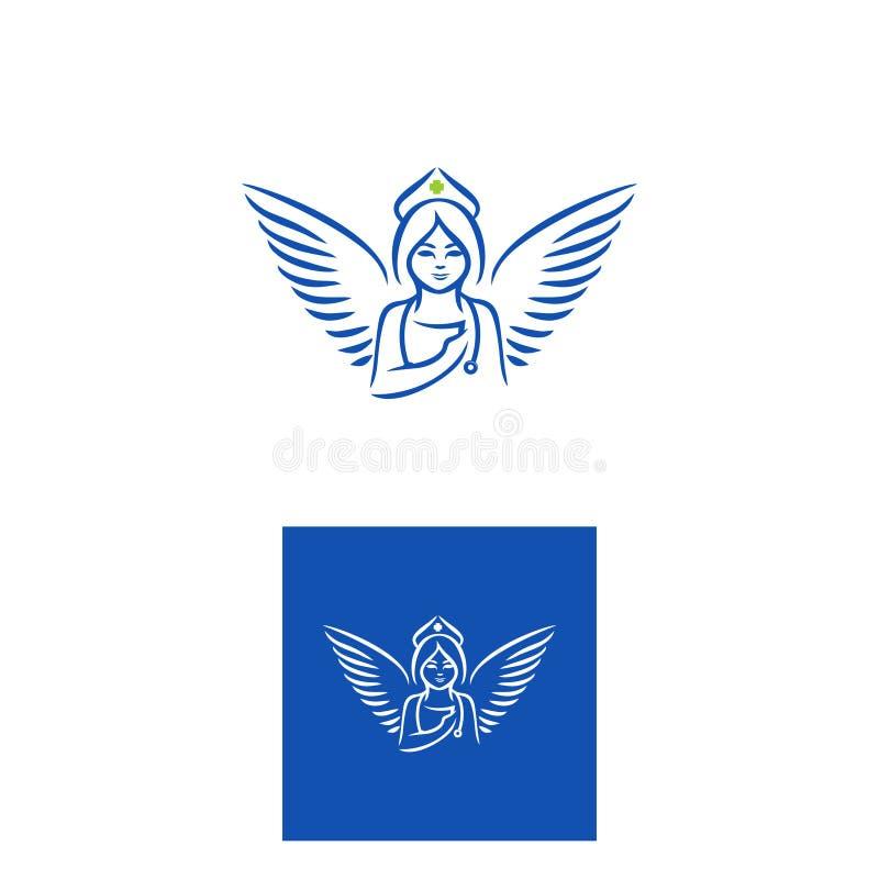 Angel nurse logo stock photos