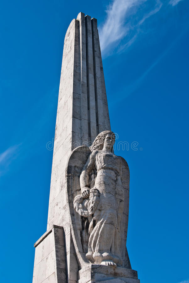 Angel on the Obelisk in Alba Iulia royalty free stock photo