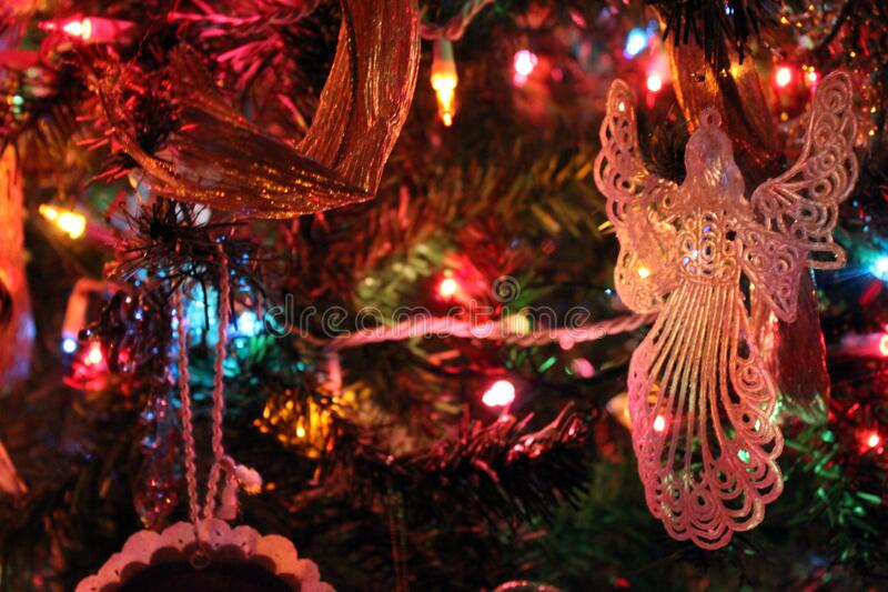 Angel Ornament In A Christmas Tree Free Public Domain Cc0 Image
