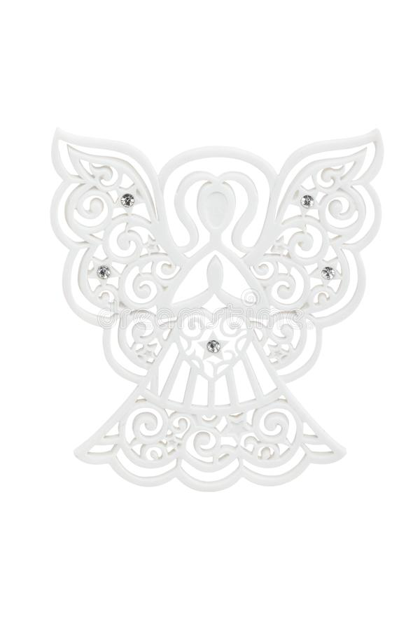 Angel ornament with swarovsky crystals stock image